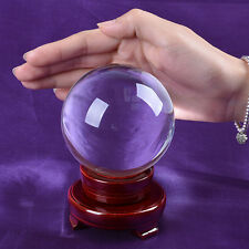 LS Big Clear Quartz Crystal Ball 80mm Sphere Feng Shui Scrying Balls Venue Decor