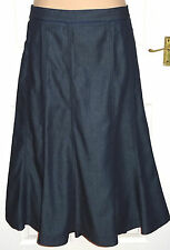 PER UNA Long Indigo Blue Dressy Fit & Flare Denim Jeans Gypsy Boho Skirt Size 22
