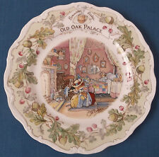 "BRAMBLY HEDGE ROYAL DOULTON OLD OAK PALACE 8"" WALLPLATE 1st QUALITY JILL BARKLEM"