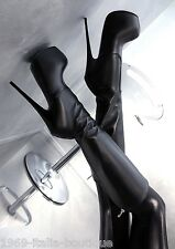 1969 Unique Leather Made in Italy Plateau Sexy High Heel CD1 Boots Stiefel Leder