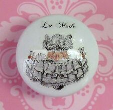 FRENCH CORSET DRESS LACE Ceramic Knob Flowers cabinet Drawer Pull Pink roses