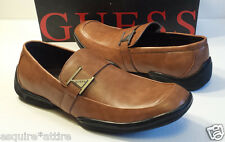 GUESS men shoes size 8.5 GM CARVER Model Brown Leather New In Box