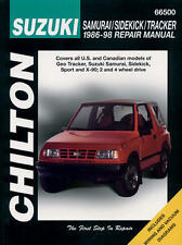 Chilton Repair Manual Suzuki Samurai, Sidekick & Tracker, 1986-98  #66500