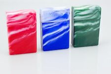6 Marble Multi Color Top Flip Open Plastic Cigarette Case Pack Holders King's