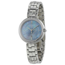 Tissot Flamingo Black Mother of Pearl Dial Stainless Steel Ladies Quartz Watch