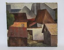 RUSSIAN AVANT-GARDE, CUBISM, EARLY 20 CENTURY, OIL ON CANVAS PAINTING