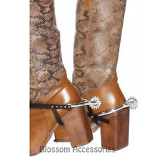 A479 Cowboy Boot Spurs Mens Costume Shoe Accessory Wild West Western
