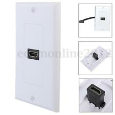 1 Port HDMI Audio Video Wall Face Plate Panel Cover Coupler Outlet 1080P