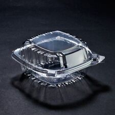 "100 Plastic Clear 5"" Hinged / Clamshell Take Out Food Container"