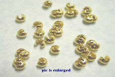 100 Gold Plated Crimp Tube Bead Covers 3MM