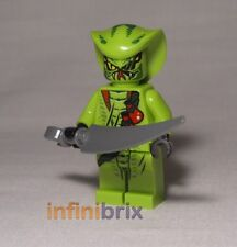 Lego Lasha from sets 9562 + 9447 Bite Cycle Ninjago Snake/Reptile NEW njo051