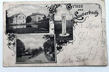 21921 AK Gruß aus Lauterbach / Stolpen Scheibners Restaurant Dorfweg Gedenkstein