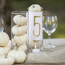 1-40 Gold Foil Wedding Table Numbers Number Cards