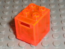 Boite LEGO TrNeonOrange container box 4345b / set 6190 6195 6155 6175 1822