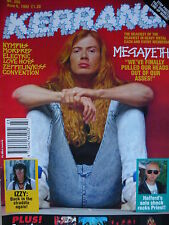 KERRANG 395 - MEGADETH/JUDAS PRIEST/MORDRED/GIANT/THE NYMPHS/ELECTRIC LOVE HOGS