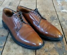 Barrie LTD Booters Brown Leather Plain Toe Oxford Handcrafted in England Sz