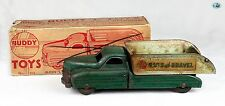 Vintage 1940 All Original Buddy L Sand and Gravel Dump Truck W/Box