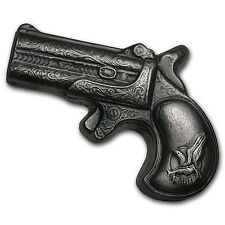 7 oz Silver Derringer Pistol - Bison Bullion - SKU #88936