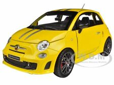 FIAT ABARTH 695 FERRARI TRIBUTE YELLOW 1/24 DIECAST MODEL CAR BY BBURAGO 21070