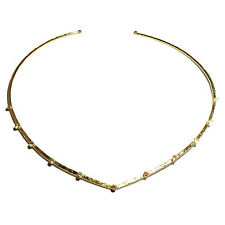 Evelyn Knight SALE! Gold Plated Cubic Zirconia Skinny Torc Necklace (RRP £94)