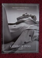 2014 Print Ad London Fog Fashion ~ Sexy Girl in Raincoat Entrenched in Seduction