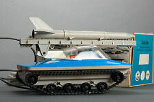 #Antique Tin Toy# Piko Anker Jupiter Moon Space Tank Remote Control DDR Germany