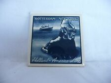 Holland America Line Tile by the Makers  Blue Delft.....Rotterdan - New York EC