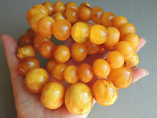 HUGE! NATURAL BUTTERSCOTCH HONEY AMBER BEADED NECKLACE 260 GRAMS