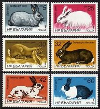 BULGARIA Sc.# 3146-51 Rabbits Mint NH Stamps