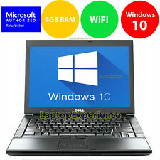 DELL LAPTOP LATiTUDE WINDOWS 10 CORE 2 DUO 4GB RAM WIN DVD WIFI PC HD COMPU