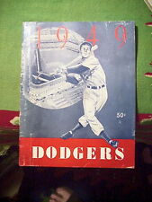 BROOKLYN DODGERS 1949 Yearbook EBBETS FIELD Jackie Robinson Pee Wee Reese ETC