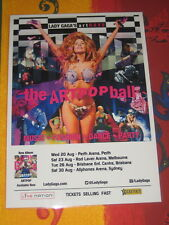 LADY GAGA -  2014 AUSTRALIAN ART RAVE TOUR  -  THE ARTPOP BALL PROMO TOUR POSTER