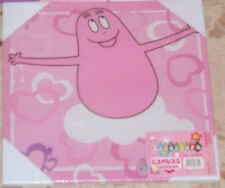 QUADRO TELA CANVAS CARTOON/CARTONI ANIMATI-PINK BARBAPAPA ROSA peppa pig,i puffi