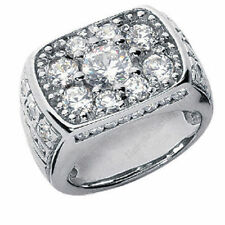 3.45 carat total Round DIAMOND ENGAGEMENT Wedding MENS RING, G color SI1 clarity