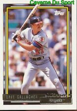 552 DAVE GALLAGHER OF ANGELS NEW JERSEY TOPPS GOLD WINNER BASEBALL CARD 1992