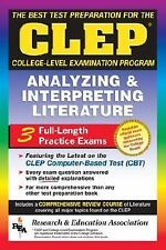 CLEP Analyzing & Interpreting Literature (REA) - The Best Test Prep fo-ExLibrary
