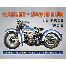 Harley Davidson 45 Twin WLD steel fridge magnet  (fd)