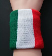 ITALY ITALIAN ITALIA FIST WRISTBAND FLAGS SOCCER SPORTS SWEATBAND