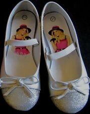 Shoes dress girls size 11M EUR 28.5 new silver glitter Sharpay strap