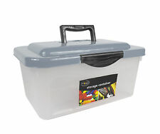 Clear Strong Clip Top Storage Box Kitchen Home Handle Toys Tools