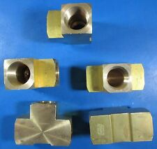 "Dynaflo 1/2"" FPT Brass Female Tee 69828 5 Pack"