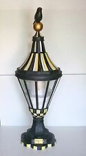 MacKenzie Childs RETIRED Courtly Check Large Bird on Ball Lantern New In Box