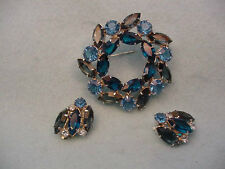 Vintage  Juliana Pin & Earring Set