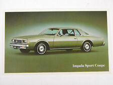 Old 1979 Chevrolet Impala Sport Coupe dealer post card