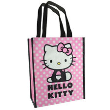 HELLO KITTY SHOPPING SMALL ECO BAG FOR LIFE TOTE BAG CARRY PINK WHITE POLKA DOTS