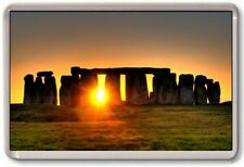 FRIDGE MAGNET - STONEHENGE - Large Jumbo - UK England London (Sunset)