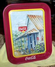 "1994 COCA COLA TRAY ""THRIFT MERCANTILE"" SIGNED 4/1996 BY ARTIST JEANNE MACK NOS"