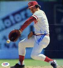 JOHNNY BENCH 8X8 PHOTO PSA/DNA SIGNED AUTHENTIC AUTOGRAPH