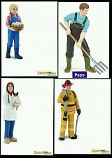 Safari Ltd Papo People Family 4pc Lot Farmer Girl Veterinarian Fireman Sandtray