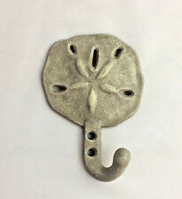 Cast Iron Sand dollar Wall Hook Hat Towel Keys Hanger Coastal Beach Decor